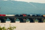 NS SD70M-2 2712, CN/IC SD40-2 6107, NS SD60M 6771 & NS SW1001 2101 cross the Rockville Bridge